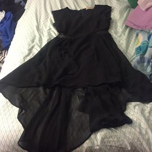 Dress high low black